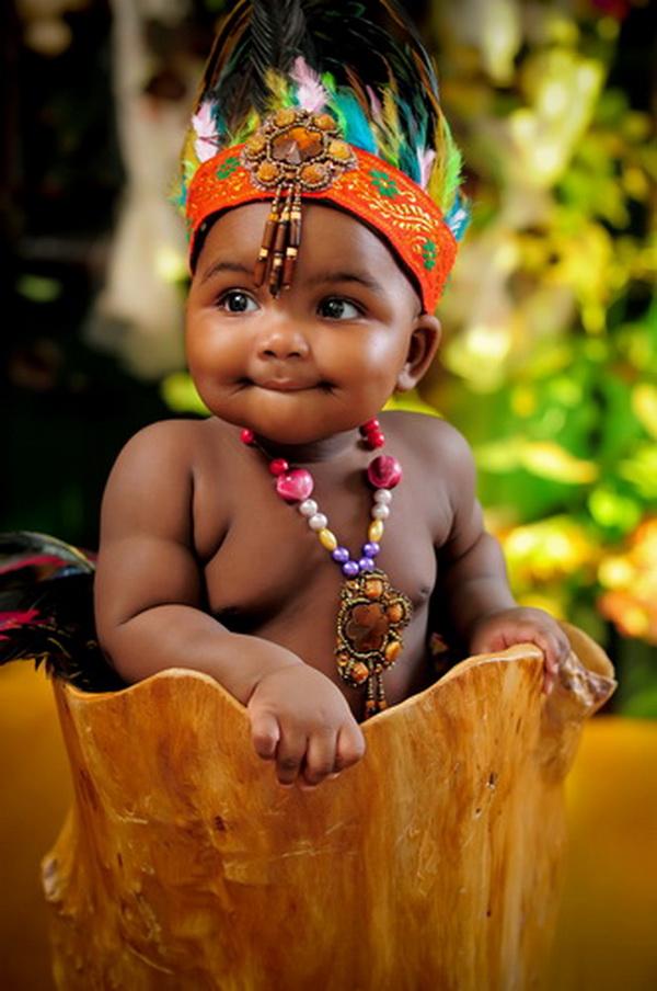 可爱黑人小孩图片